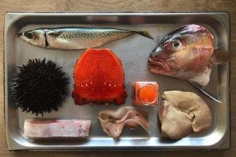 A display tray at FishButchery.