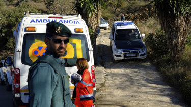 More than 100 firefighters and emergency workers in southern Spain are searching for a 2-year-old toddler who fell into a narrow, 100-metre deep well on Sunday.