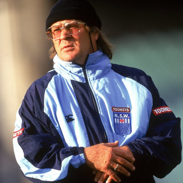Tommy Raudonikis as Blues coach in 1997.