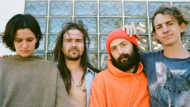 Big Thief with (left) Adrienne Lenker, release their new album Two Hands next month.