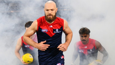 Max Gawn continues to lead from the front for the Demons.