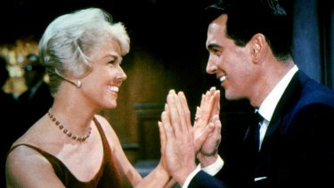 Doris Day and Rock Hudson in Pillow Talk.