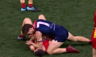 Jack Viney faced a serious misconduct charge at the tribunal on Tuesday night.