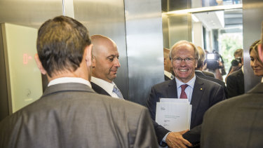 New policy: Peter Beattie and Todd Greenberg after Thursday's announcement.