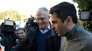 Alex Turnbull with his father, former prime minister Malcolm Turnbull.