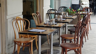 Empty chairs at empty tables are the new reality in the restaurant industry.