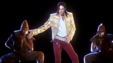 A holographic image of Michael Jackson performs onstage during the 2014 Billboard Music Awards.