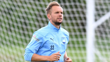 Race against time: Sydney FC marquee Siem de Jong missed training due to illness on Thursday.