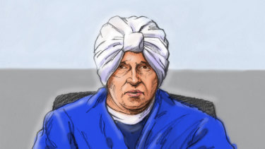 A court sketch of Malka Leifer this week.