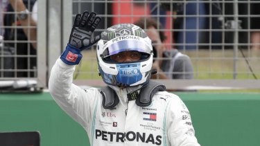 Valtteri Bottas just pipped teammate Lewis Hamilton for pole position.