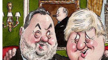 Stuart Wood QC and Boris Johnson
