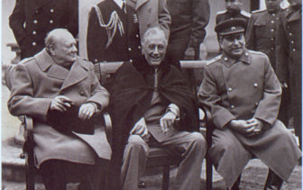 Sewing the seeds of the cold war: Winston Churchill, Franklin D. Roosevelt and Joseph Stalin at the Yalta conference in 1945.