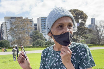 Aboriginal healthcare worker Viv Malo has engaged in several heated exchanges with protesters this week.