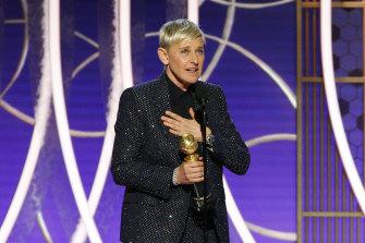Ellen DeGeneres accepts the Carol Burnett TV Achievement Award.