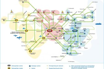 Sydney Bicycle network plan for 2056.