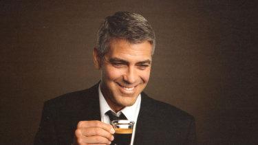 George Clooney advertises Nespresso.