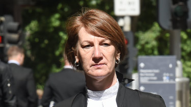 Kerri Judd, QC, Director of Public Prosecutions arrives at the Supreme Court on Thursday.