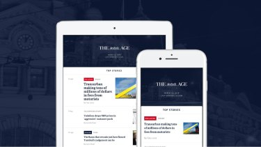 The Age app allows you to customise your news.