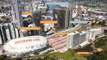 The proposed Brisbane Live development.