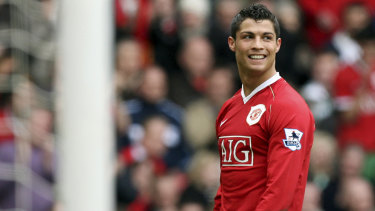 Cristiano Ronaldo during his first stint at United.