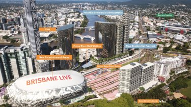 The proposed Brisbane Live development would be a potential host stadium for Olympic events.