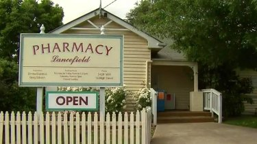 The pharmacy where the alleged attempted robbery took place.