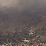 An out-of-control blaze atMillmerran is threatening homes