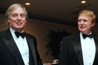 Robert Trump (left) in 1999 with then real estate developer and presidential hopeful Donald Trump at an event in New York.