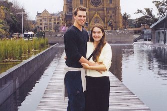 The article's author Konrad Marshall and his then future wife, Nikki, who is from upstate New York. They met 20 years ago in Cairns.