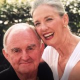 Tony King with his wife Lyn, who died in July 2017.