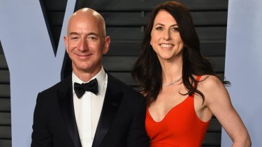 Jeff and MacKenzie Bezos, who have announced they are to divorce.