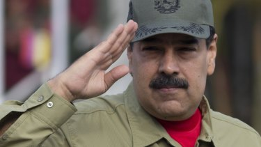 Venezuela's President Nicolas Maduro. Observers say voters have largely boycotted Sunday's presidential election.