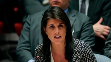 Nikki Haley as US ambassador to the United Nations.