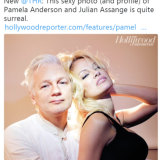 Pamela Anderson and Julian Assange in a David LaChappelle photo (yes, inside the Ecuadorian embassy on one of Anderson's many visits).