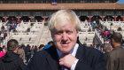 Boris Johnson, as London Mayor, tours the Forbidden City in Beijing during his October, 2013 visit.