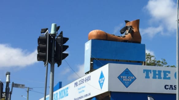 This boot's not made for walking: Chermside's big boot to stay put