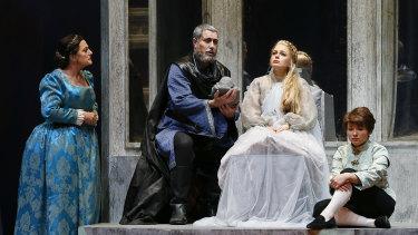 Mildura-born soprano Siobhan Stagg (seated) in Pelleas and Melisande.