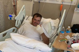 Brad Osborne recovering in hospital.