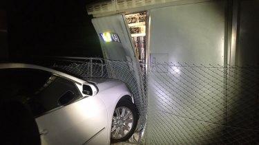 The car crash at Riverwood damaged train signalling equipment.