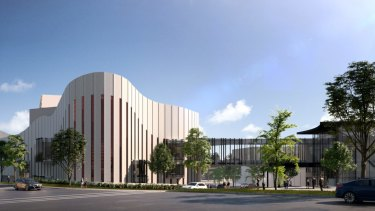 Renderings of proposed performance arts centre being built in Western Sydney, by Rooty Hill RSL, now known as West HQ