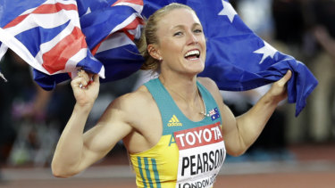 Eyeing another Olympic tilt: Sally Pearson.