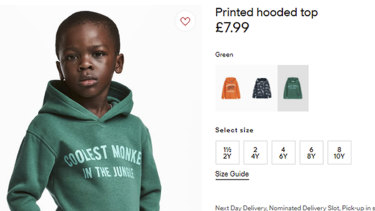 H&M came under fire last year over a photo of a black child wearing a hoodie with the slogan, 'Coolest monkey in the jungle'.