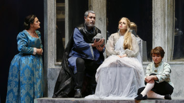 Mildura-born soprano Siobhan Stagg (seated) in Pelleas and Melisande.