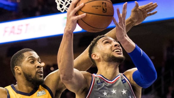 Australian mates Simmons and Exum face off on biggest stage