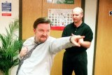 Ricky Gervais in the original version of The Office.