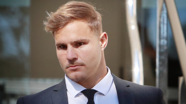 Jack de Belin has dropped his fight against the NRL's 'no-fault' stand-down rule.