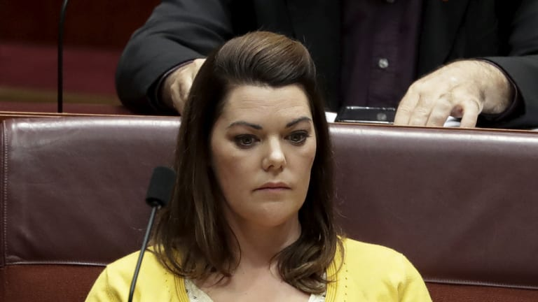 Senator Sarah Hanson-Young is fighting for her political career.