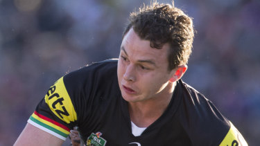 Out of favour: Panthers fullback Dylan Edwards.