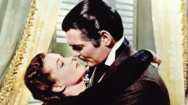 Vivien Leigh and Clark Gable get together in Gone With The Wind.