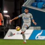 Canberra export George Timotheou playing forSchalke 04 at the Zenit Arena in Russia.